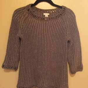 Taupe shimmery sweater